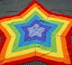 Crochet little star afghan/rug. Can be used as baby carrier cover. Love this.