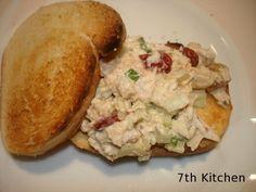 Dried Cranberry & Walnut Chicken Salad Sandwich