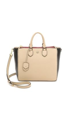 Tory Burch Robsinson Pebbled Square Tote