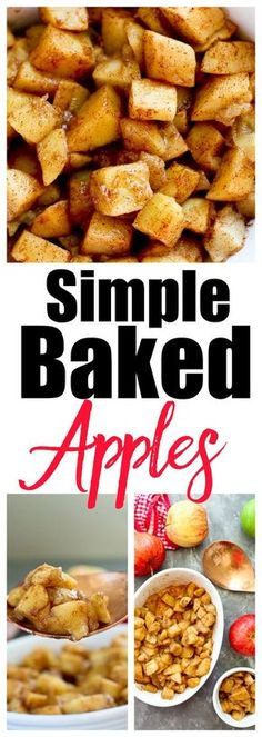 This Gluten-Free Simple Baked Apples Recipe is Great fall recipe, healthy side dish, and kid friendly. This Gluten-Free Simple Baked Apples Recipe is Great fall recipe, healthy side dish, and kid friendly. Apple Recipes Easy, Healthy Dessert Recipes, Healthy Baking, Baby Food Recipes, Healthy Snacks, Apple Side Dish Recipes, Apple Desserts, Diabetic Snacks, Apple Recipes For Toddlers