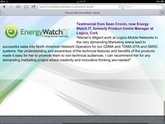 Testimonial from Sean Cronin, EnergyWatch IT Flourish, Management, Success, Social Media, Marketing, Social Networks, Social Media Tips