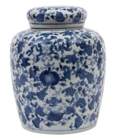 4a99f9bc4575 Another great find on  zulily! Blue  amp  White Ceramic Ginger Jar   zulilyfinds