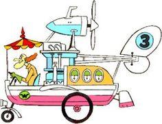 Et bien dans ce cartoon il y avait tout une série de personnages avec chacun son bolide personnalisé et l'un d'entre eux était le professeur Maboulette avec son Auto-aéro-fuseau-planeur   :    Old School Panini: Dans la série il n'y a pas que Trifon : Ruud GEELS