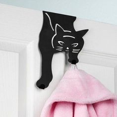 Over the Door Cat Design Hook and like OMG! get some yourself some pawtastic adorable cat apparel! Crazy Cat Lady, Crazy Cats, I Love Cats, Cool Cats, Cat Lover Gifts, Cat Lovers, Cat Decor, All About Cats, Cat Furniture