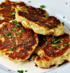 Traditional Irish Boxty (Potato Pancakes) Recipe.  These are often topped with ham or bacon, onions, and Irish cheddar,