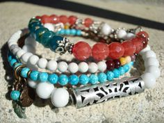 Summer Bangle Set by mollymccarthy on Etsy, $80.00