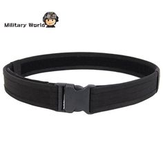 Nylon Black Tactical Military Waistband Quick Release Buckle Belt Hunting Clothing Accessories