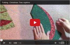 albero di Natale con tovagliolo tondo