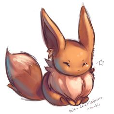 eevee - my other fave... Guess I really just like Pokemon that look like cute foxes