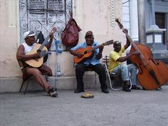 Musicians in the street of Santiago