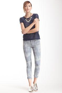 Abstract Tie-Dye Skinny Jean