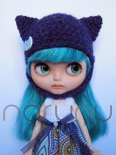 Blythe hat by Narunu on Etsy https://www.etsy.com/listing/488915231/blythe-hat
