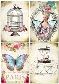 5 x Inch Images Collage Sheet by Debrina Pratt - Digital Collage, Vintage Art, Vintage Printables, Vintage Cards, Vintage Postcards, Vintage Tags, Decoupage, Art, Altered Art
