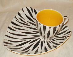 Vintage Retro 1950s Sandland ZEBRETTE SANDWICH PLATE & CUP rare | eBay
