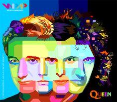 Queen on wpap art Die Queen, Queen Art, Queen Photos, Queen Pictures, Queen Poster, Queen Freddie Mercury, Save The Queen, Rock Legends, Concert Posters