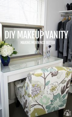 Mak up vanity and hair appliace caddy DIY - makes getting ready so much better!