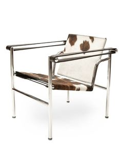 """""""Chairs are achitecture"""" - LE CORBUSIER - (The """"Sling Chair"""" or """"Basculant Chair"""", created in 1928 by Le Corbusier, Charlotte Perriand, and Pierre Jeanneret, was the first design of the new Design Group)"""