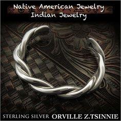 Orville Z.Tsinnie twist cuff Native American Indian Jewelry Sterling Silver 925 (ID na3201r73)  http://item.rakuten.co.jp/auc-wildhearts/na3201r73