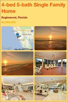 4-bed 5-bath Single Family Home in Englewood, Florida ►$2,999,000 #PropertyForSale #RealEstate #Florida http://florida-magic.com/properties/9524-single-family-home-for-sale-in-englewood-florida-with-4-bedroom-5-bathroom