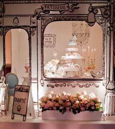 Paris dessert table setting