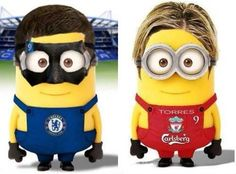 #Minions Chelsea. Fave for Liverpool Carlsberg. Baaaaaahhh!