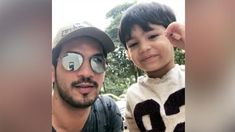 Arjun Bijlani relives his childhood days with his son Ayaan