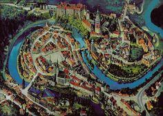 Cesky Krumlov, a small city, located in the South Bohemia 2.5 hour from Prague