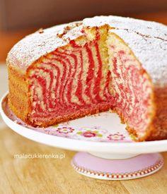 Ciasto zebra kolorowa