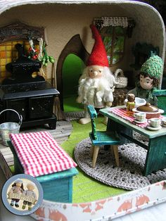 Forest gnomes - suitcase set made by Lalinda.pl | Working pr… | Flickr