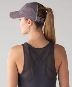 Lululemon Baller Hat Run *Ponytail - Heather Lux Multi Black / Black - lulu fanatics - - How To Run Faster, Free Hair, Ponytail Hairstyles, Pixie, Lululemon, Running, Hair Styles, Hats, Color