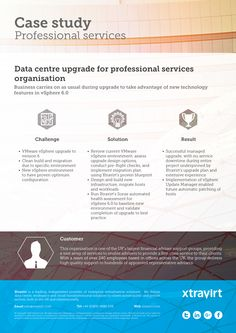 Data centre upgrade for professional services organisation - Business carries on as usual during upgrade to take advantage of new technology features in vSphere 6.0