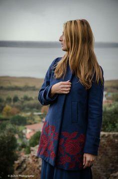alafois Coat, worn by Sara Paris Tartaglia, Blue-Nail Girl.