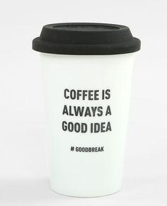 Travel mug blanc