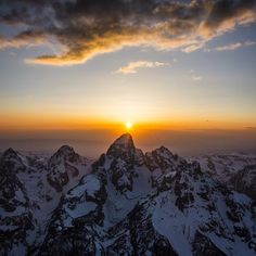 Photo // @jimmy_chin Photography can be fickle. You can go weeks where nothing seems to work out. Then, some days everything can line up perfectly. Lucky to get this one during an aerial recon of ski conditions in the Tetons this winter. On assignment for @natgeo w @jxnfigs @kitdski and @m_synnott.