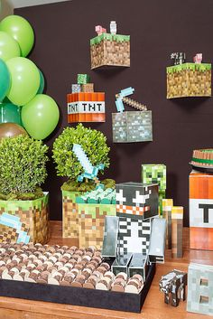 Festa Minecraft Minecraft party  www.bacurifestas.com.br