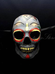 2ec427aa0498 Mens Day of the Dead Mask, Full Face Masquerade Mask, Dia de los Muertos  Mask, Masquerade Mask for Festivals, Weddings and Costumes