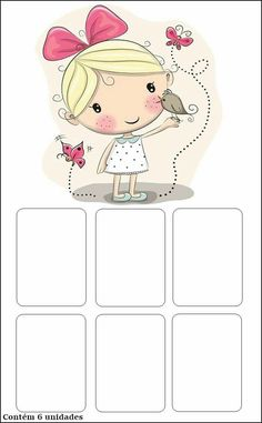 Cute Cartoon Girl, Cartoon Kids, Pictures To Draw, Cute Pictures, School Frame, Birthday Wallpaper, Floral Drawing, Borders For Paper, Preschool Games