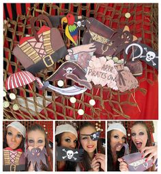 pirates photo booth props - arrrrrrr - perfect for a pirate party or pirates of the caribbean bash. $14.99, via Etsy.