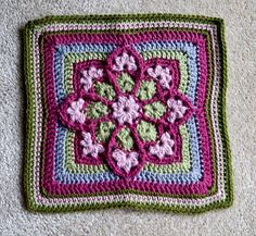 Stained Glass Afghan Square pattern by Julie Yeager :)