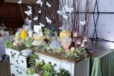 Garden party candy buffet