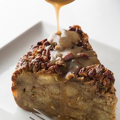 Zea Sweet Potato Pecan Bread Pudding