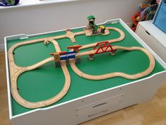 Brio 33674 Signal Station for wooden train set with a double bridge and low level crane.