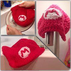 Mario Hat Washcloth  by NguyenCraft
