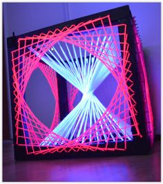 Cube String Art 3D Fils Tendus UV : Décorations murales par black-webs