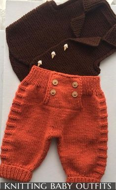 """Diy Crafts - Baby Ligt Green-Ligt Grey Line Hand knitted Overalls with detailed cabled bodice and Sweater """"A Ravelry pattern. Baby Ligt Green-L Baby Cardigan Knitting Pattern, Baby Boy Knitting, Knitting For Kids, Baby Knitting Patterns, Knitting Designs, Baby Patterns, Crochet Patterns, Pants Pattern, Knitting Ideas"""