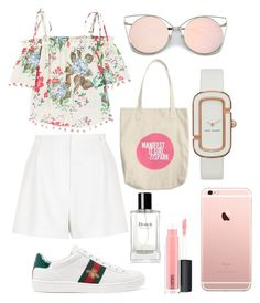 """""""Perfect look for ur summer time! 👀👅"""" by sallyzaa on Polyvore featuring River Island, MANGO, Gucci, Marc by Marc Jacobs, Bobbi Brown Cosmetics and MAC Cosmetics"""