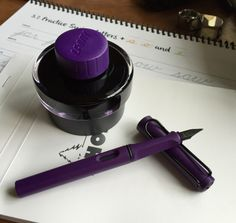 Lamy Dark Lilac Fountain Pen and Ink | No Pen Intended