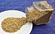 Dukkah spice mix & instructions --     1/2 cup unblanched almonds  1/4 cup sesame seeds  2 Tbsp. cumin seeds  2 Tbsp. coriander seeds  1 Tbsp. black peppercorns  1 tsp. salt  1 tsp. sugar