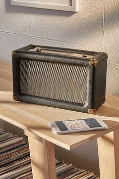 Shop Crosley Harper Wireless Speaker at Urban Outfitters today. Wooden Speakers, Diy Speakers, Bluetooth Speakers, Urban Outfitters, Speaker Design, Record Player, Boombox, Cool Tones, Marshall Speaker