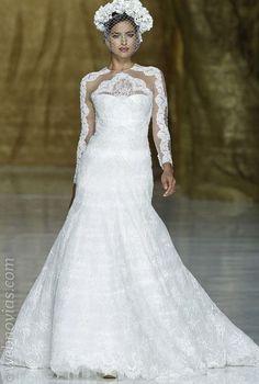 Irina Shayk vestida de novia. www.webnovias.com